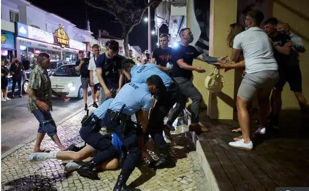 درگیری هواداران سیتی و چلسی قبل از فینال UCL