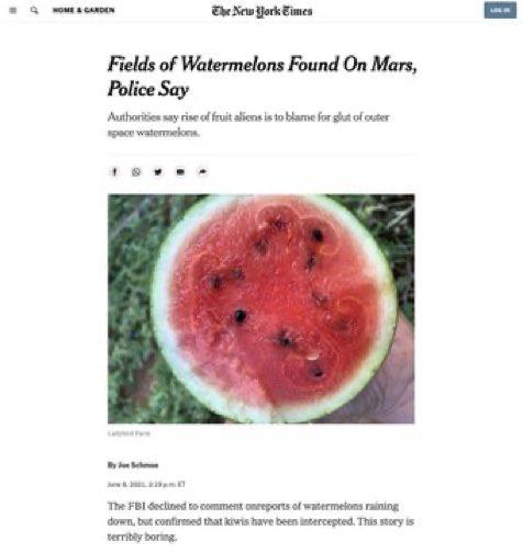 ماجرای کشف مزارع هندوانه در مریخ
