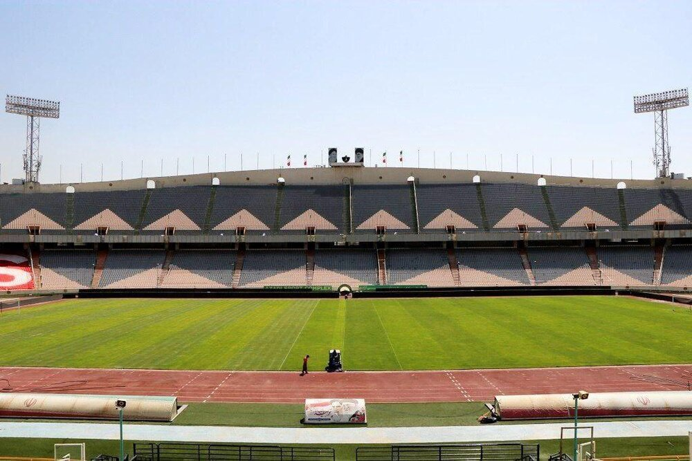 وضعیت ورزشگاه آزادی قبل بازی پرسپولیس و تراکتور