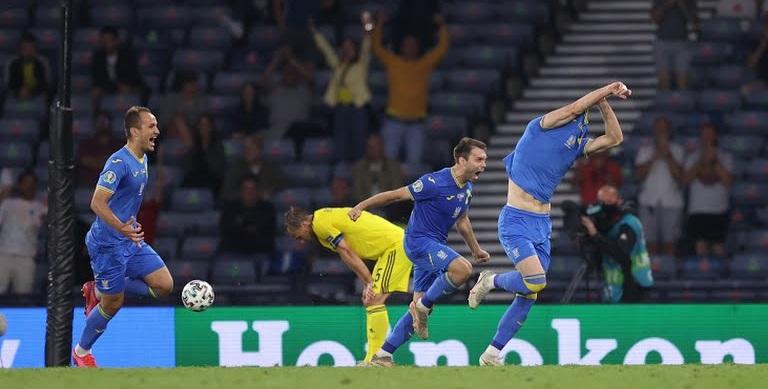اوکراین ۲-۱ سوئد؛ تیم شوچنکو حریف انگلیس شد