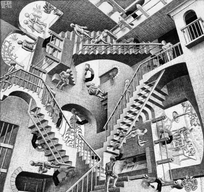 ببینید | تابلوی مشهور نسبیت اثر موریس اشر