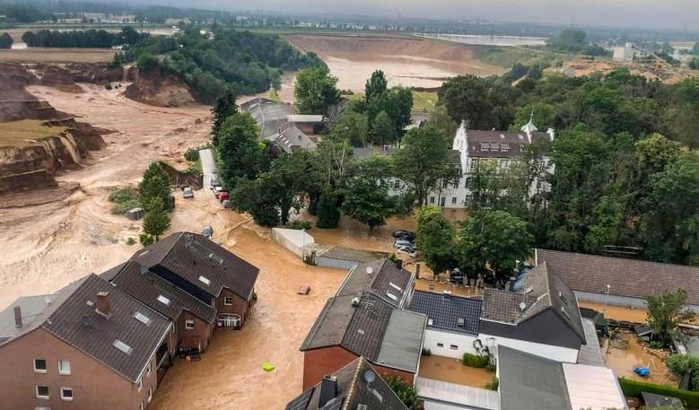 تصاویری شگفتانگیز از خسارات سیل غیرمنتظره در اروپا
