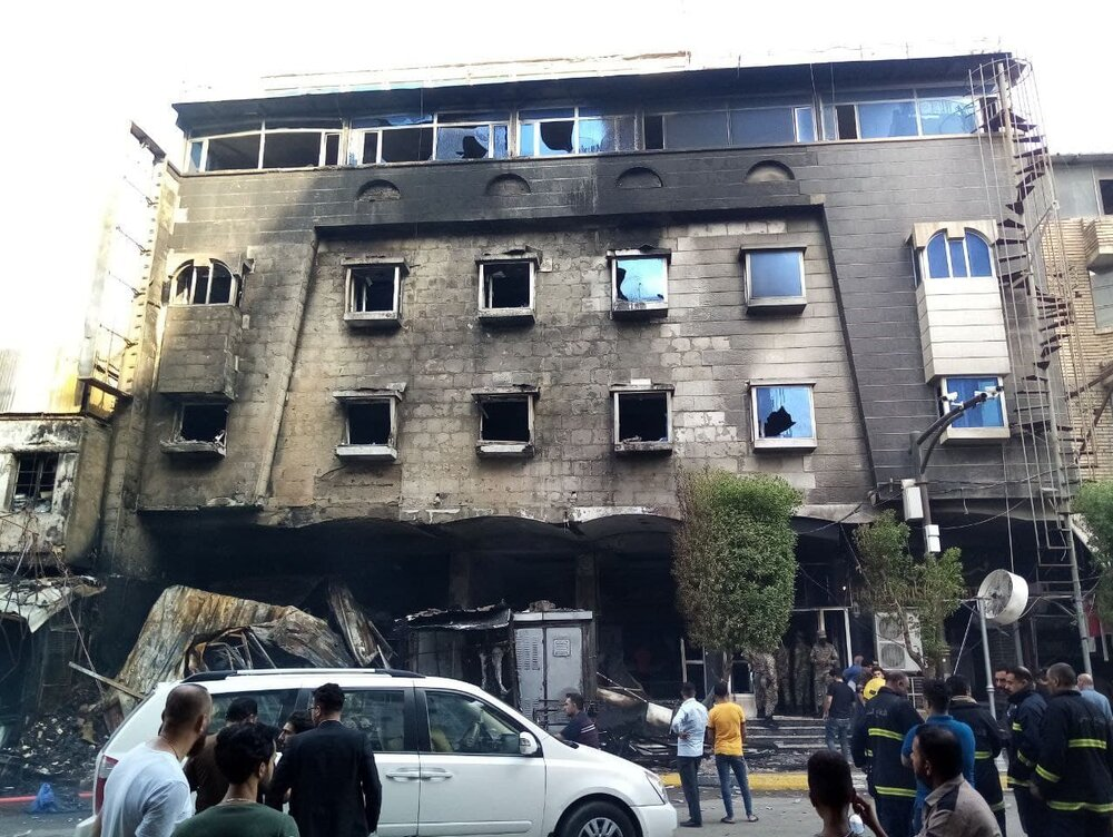 یک کودک در آتشسوزی هتل در کربلا سوخت