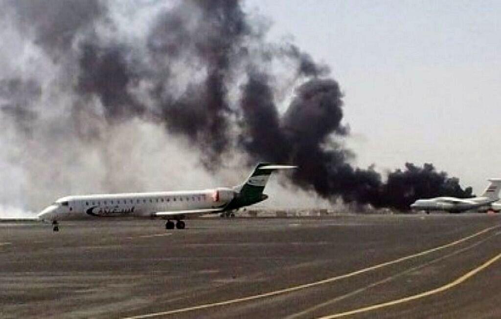 حمله پهپادی به تاسیسات نظامی فرودگاه ابها در عربستان