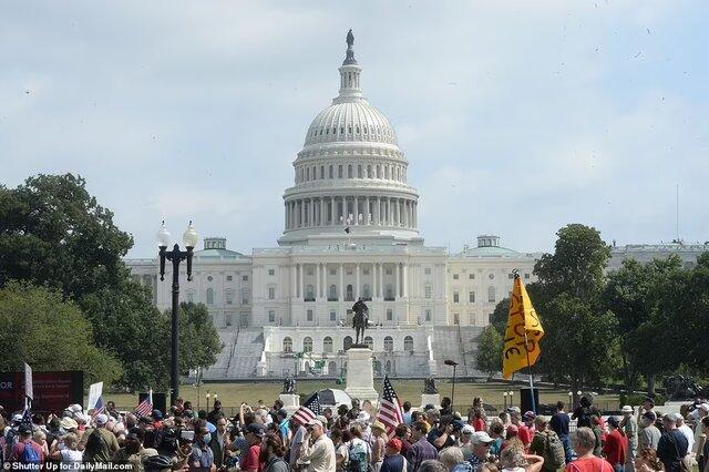 حضور کم حامیان ترامپ در تجمع روز شنبه مقابل کنگره آمریکا