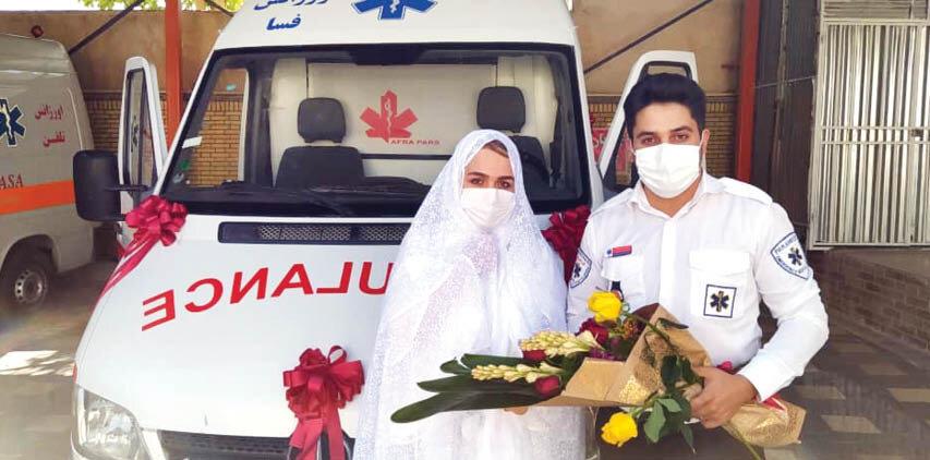 مورد عجیب علیرضا و مریم؛ ازدواج در آمبولانس!